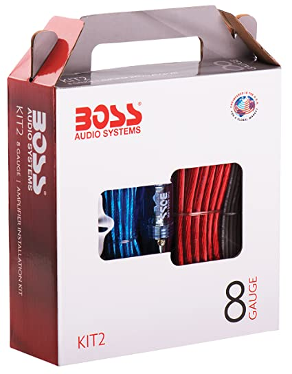 amazon com boss audio kit2 8 gauge amplifier installation wiring rh amazon com Home Subwoofer Wiring Kit Audio Wiring Kits