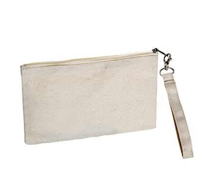 d7f45ba82d85 Amazon.com  Large Canvas Wristlet 6x9