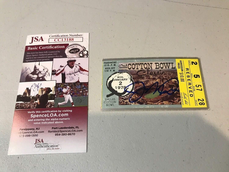 Joe Montana Autograph Autographed Signed 1978 Cotton Bowl Original Ticket Notre Dame Memorabilia JSA