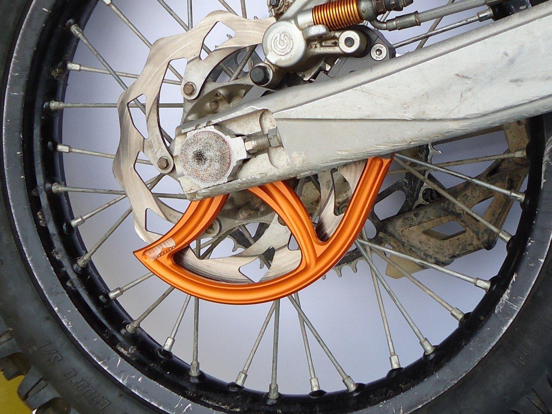 7602 Racing rear disc guard. KTM / Husqvarna. 20mm axle. orange