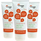 Mountain Falls Invigorating Apricot Scrub Facial Cleanser, 6 ounce (Pack of 3)