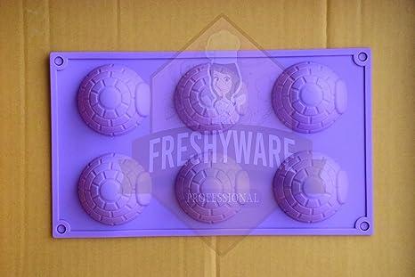 freshyware 6 Cavidad especial Alaska Igloo casa con forma de molde de silicona para hacer jabón ...
