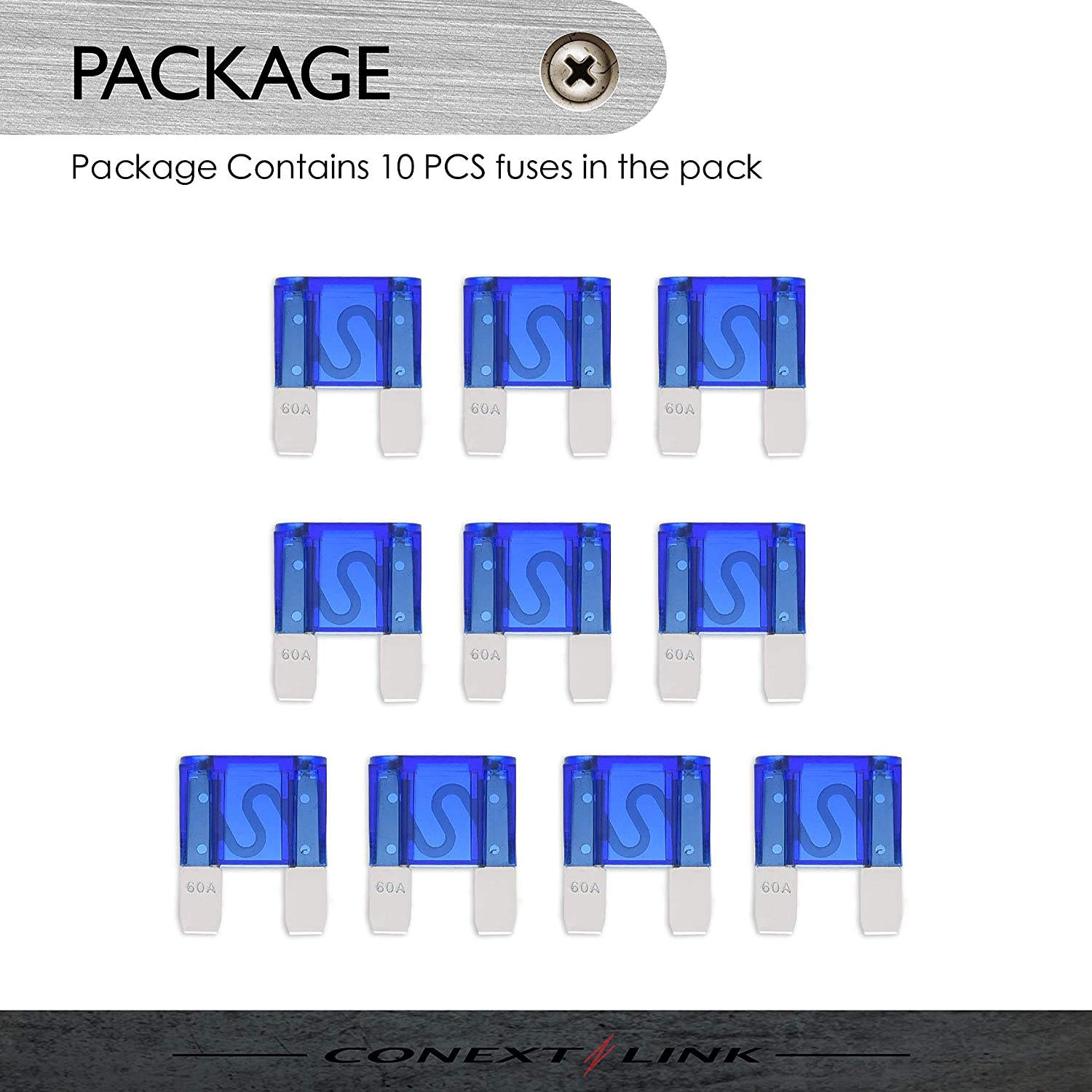 Conext Link AFS60-10 Nickel 60 Amp AFS Fuse 10 Pack