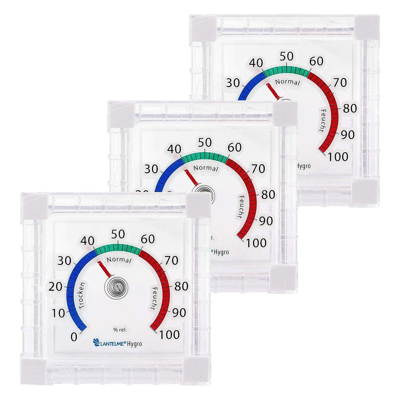 Universalthermometer Innenthermometer zum ankleben grau Analog Bimetall