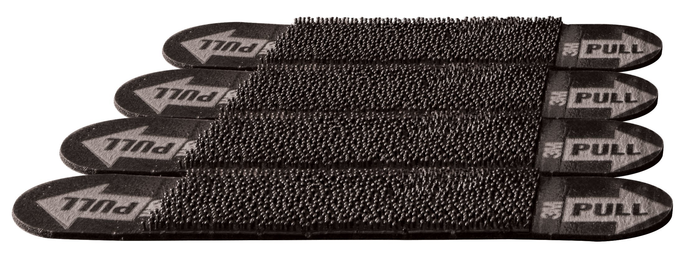 3M Rug Anchors, helps prevent slips and trips, Black, 4 Pairs