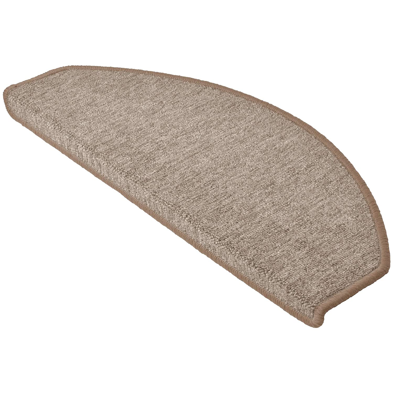 Beautissu 15 Large Stair Pads ProStair 28 x 65 cm Step Carpet Non Slip Adhesive Mat/Rug for Stair Tread Brown