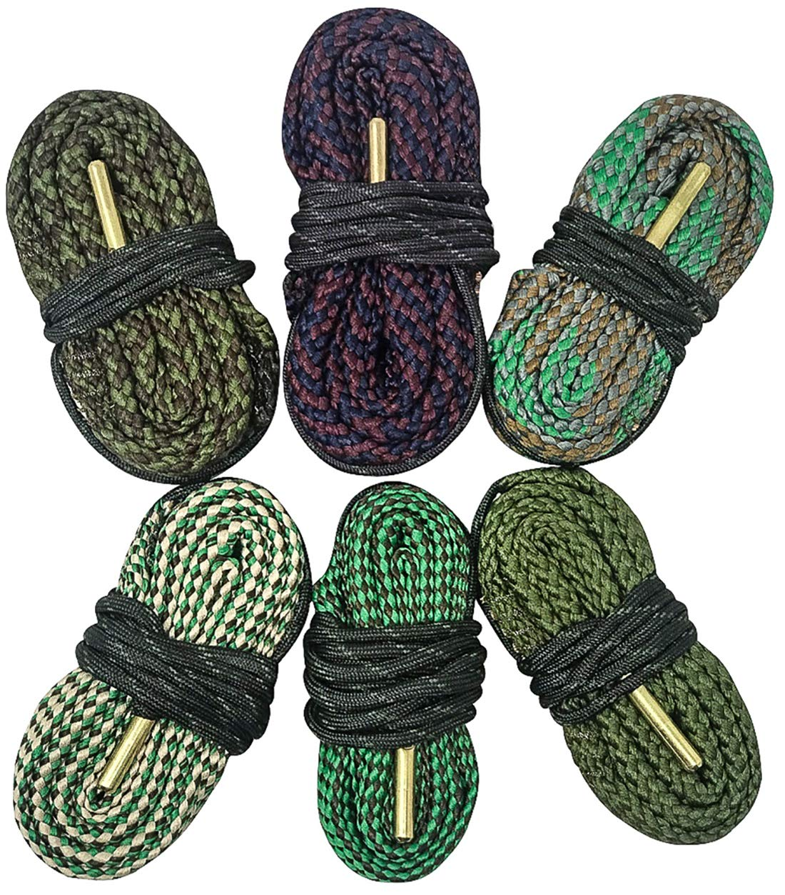 Big Country Wholesale Cobra 6 Pack Bore Cleaning Snakes | 6 Count Bore Snakes 223 22 5.56 9mm 308 45/70 .45 .44 380 .40 .41 and More by Big Country Wholesale