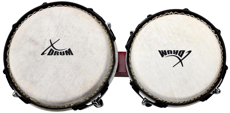 Set de XDrum Bongo Pro Borgo/ña incl. funda de bongos