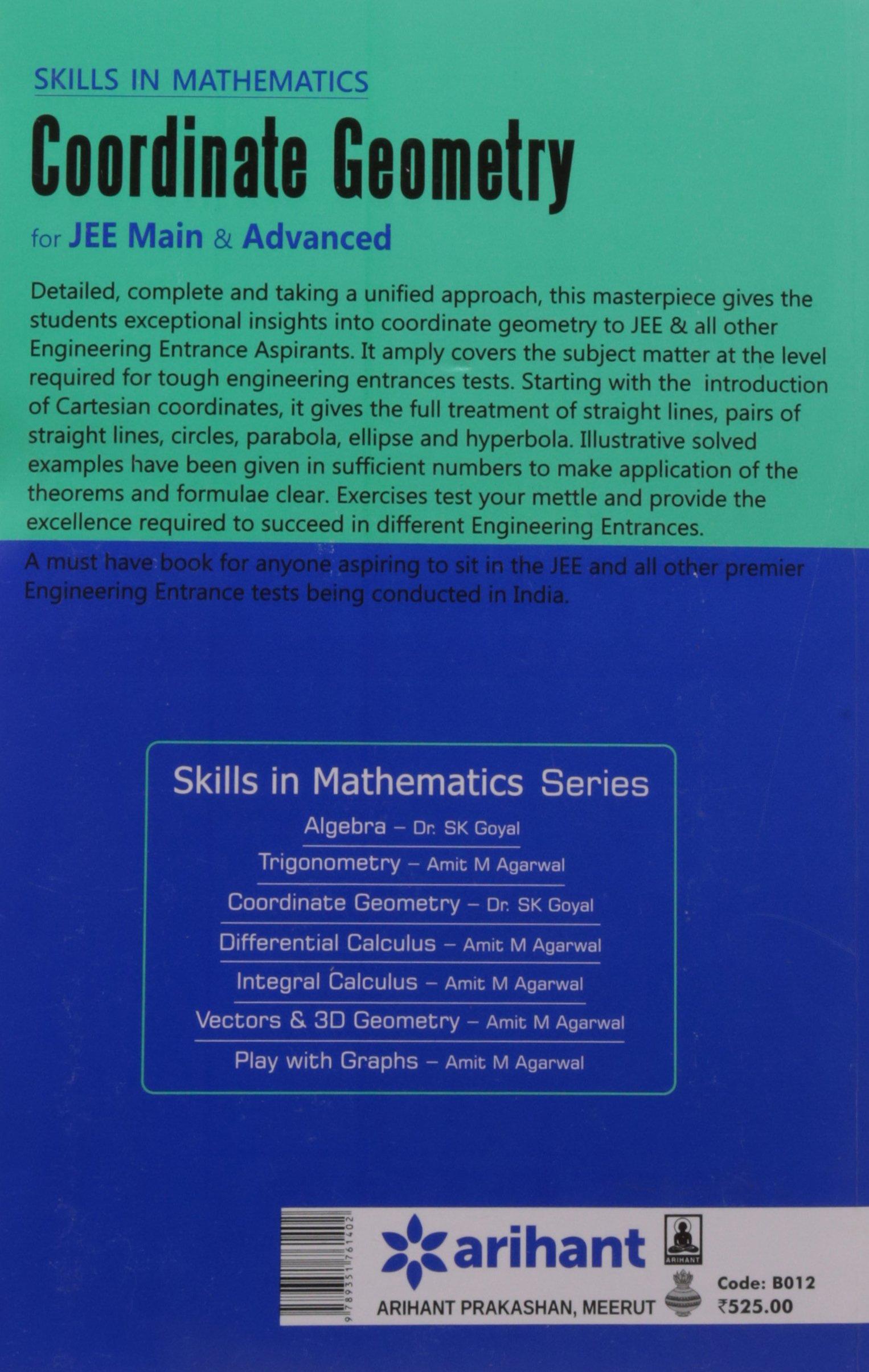 Buy Skills In Mathematics - COORDINATE GEOMETRY for JEE Main ...