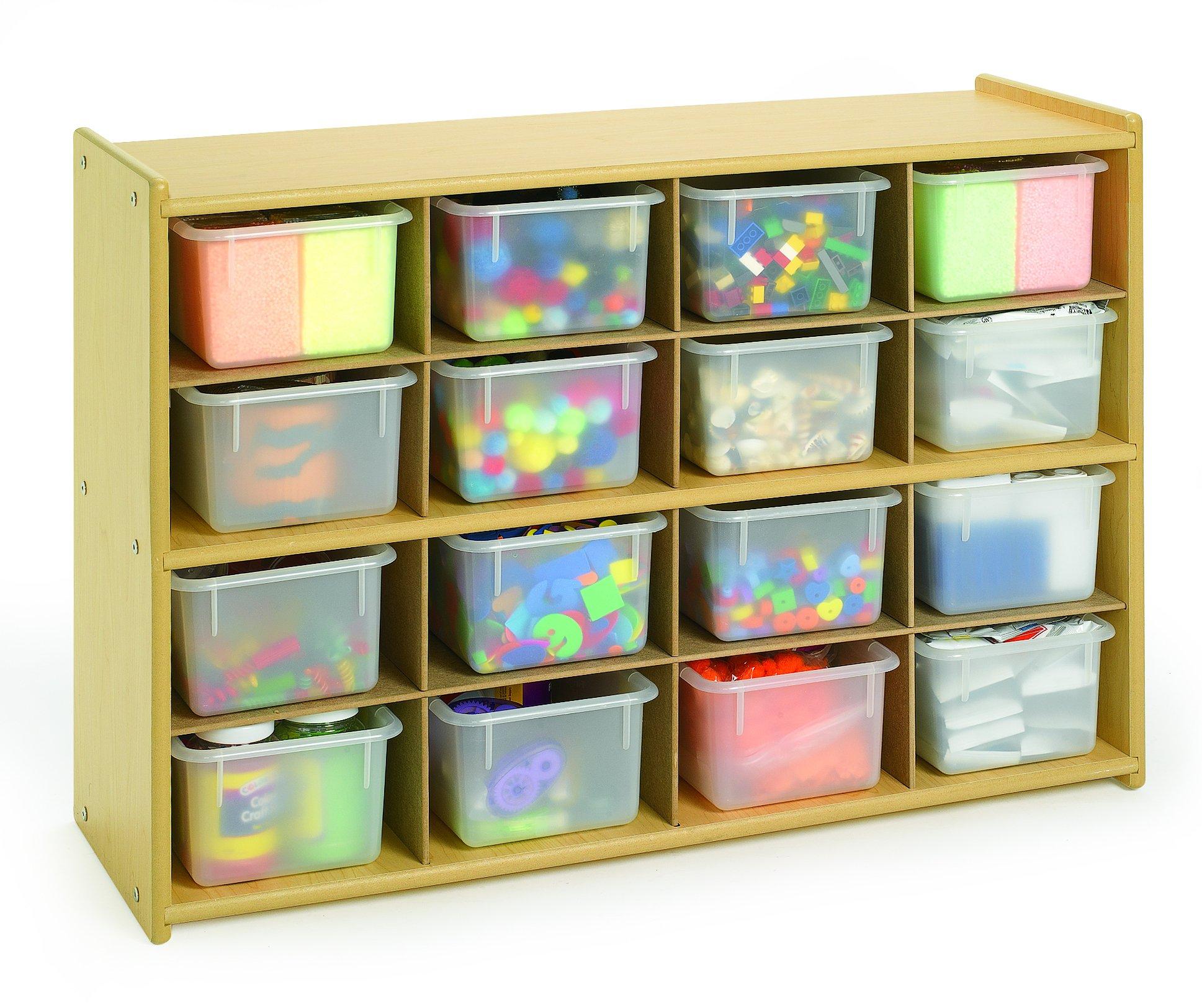 16 Tray Storage with Opaque Trays