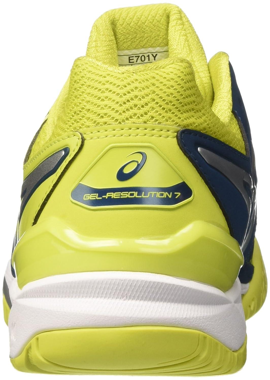 ASICS Herren Gel-Resolution 7 Tennisschuhe Mehrfarbig (Ink Bluesulphur Springwhite)