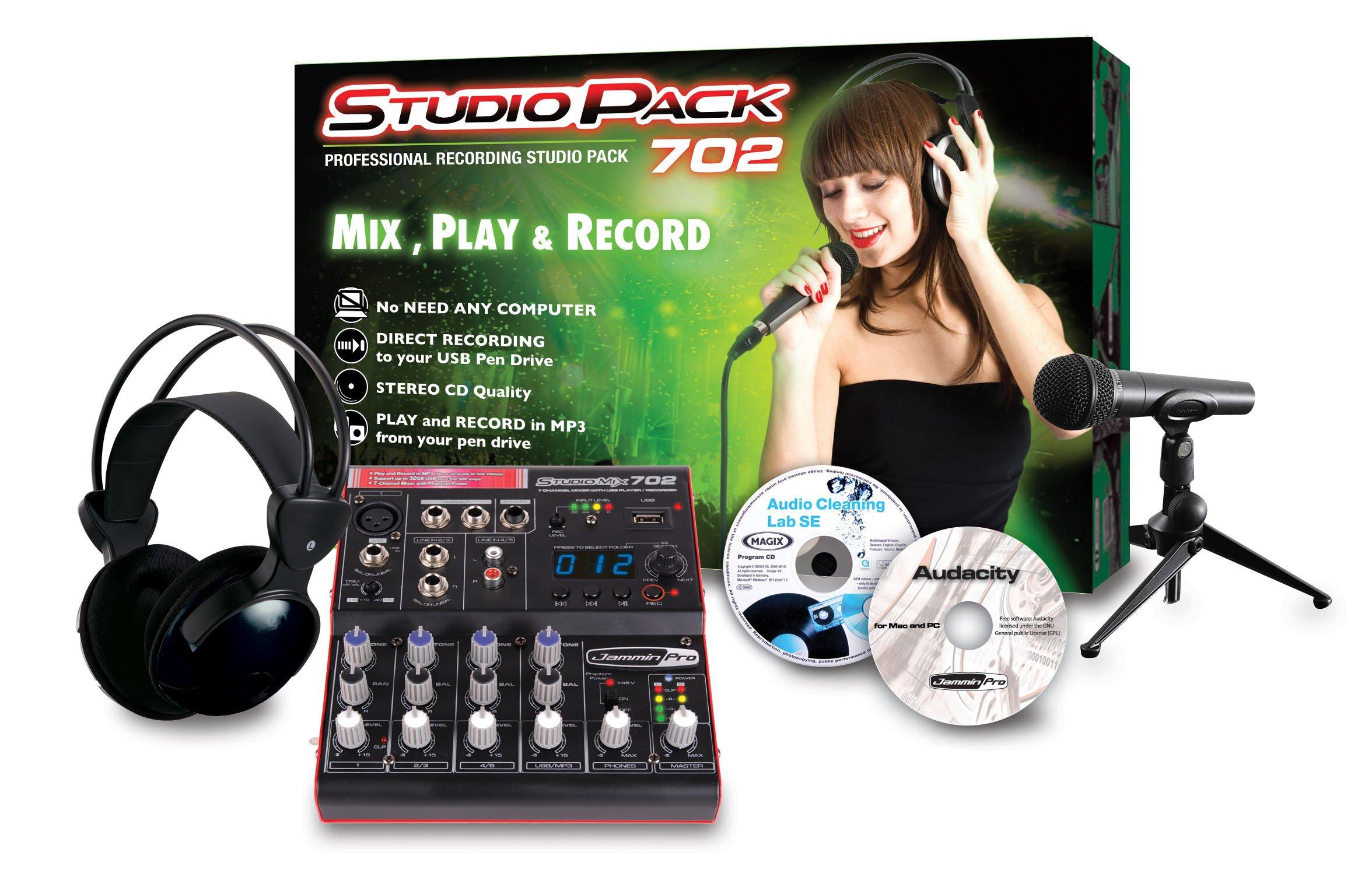 Jammin Pro STUDIOPACK702 Studio Flash Recorder by Jammin Pro