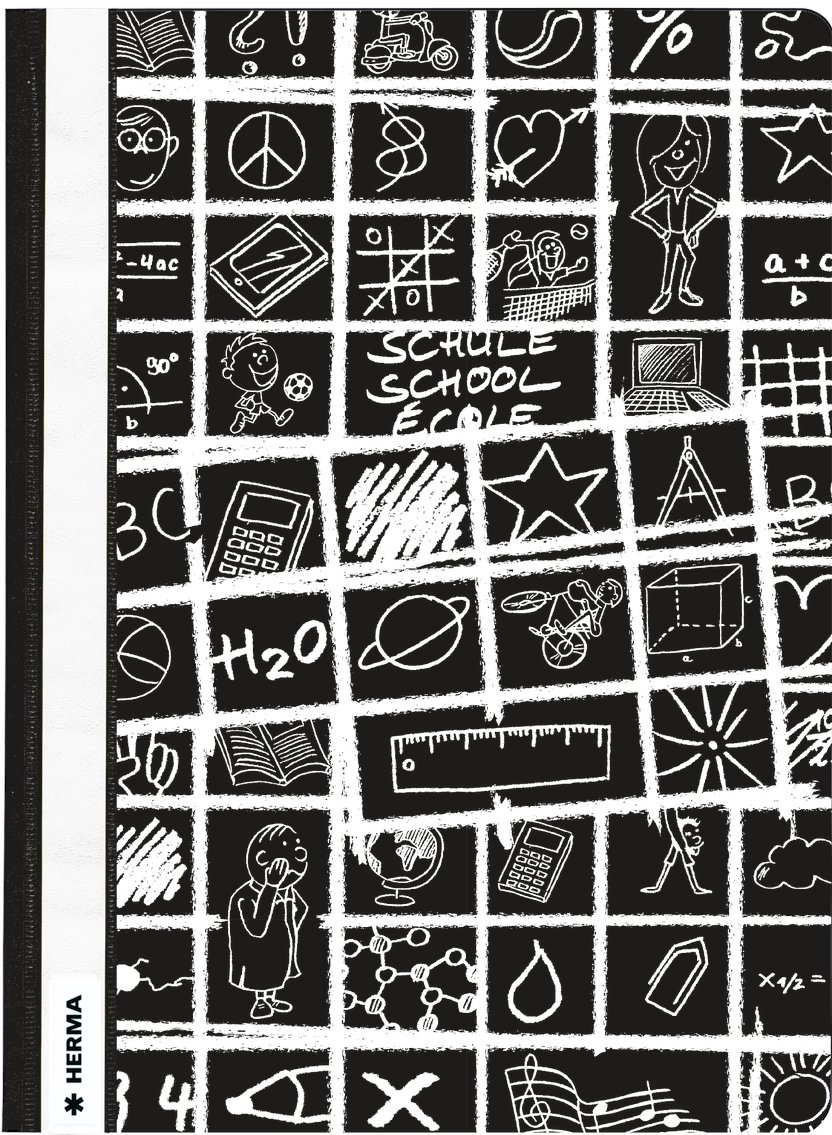 Plastik Kunststoff gemustert Herma 19361 Schnellhefter rot DIN A4 SCHOOLYDOO 1 Mappe