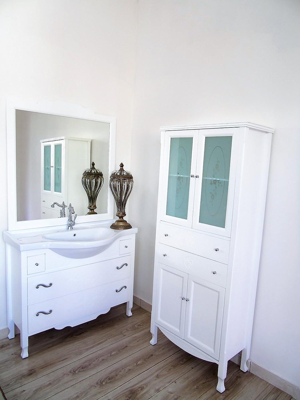 mobile bagno lavabo shabby chic massello contemporaneo colonna bagno con cassetti