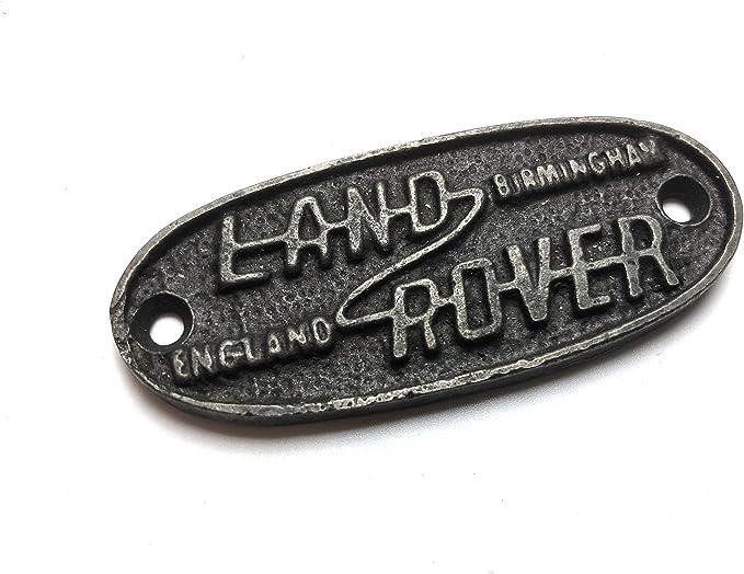 Black Country Metal Works Antikes Eisen Schild Oval Land Rover 30 Mm X 125 Mm