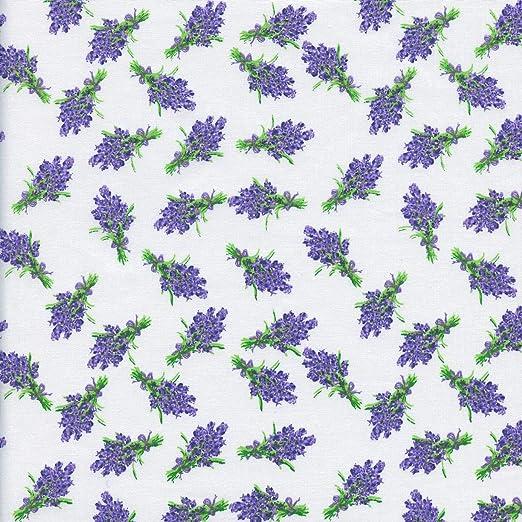 Textiles français Tela - Mini Ramos de Lavanda - Lavanda y Verde ...