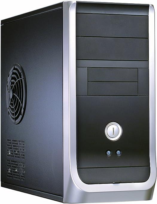 Compucase 6K29BUF-40P UATX - Torre para PC de sobremesa, Dual USB, Ventilador de 8cm, Fuente de alimentación de 400 W, Color Negro y Plateado: Amazon.es: Informática