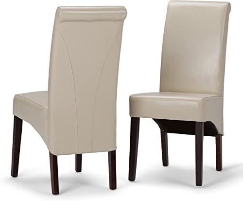 SIMPLIHOME Avalon Contemporary Deluxe Parson Dining Chair Set of 2