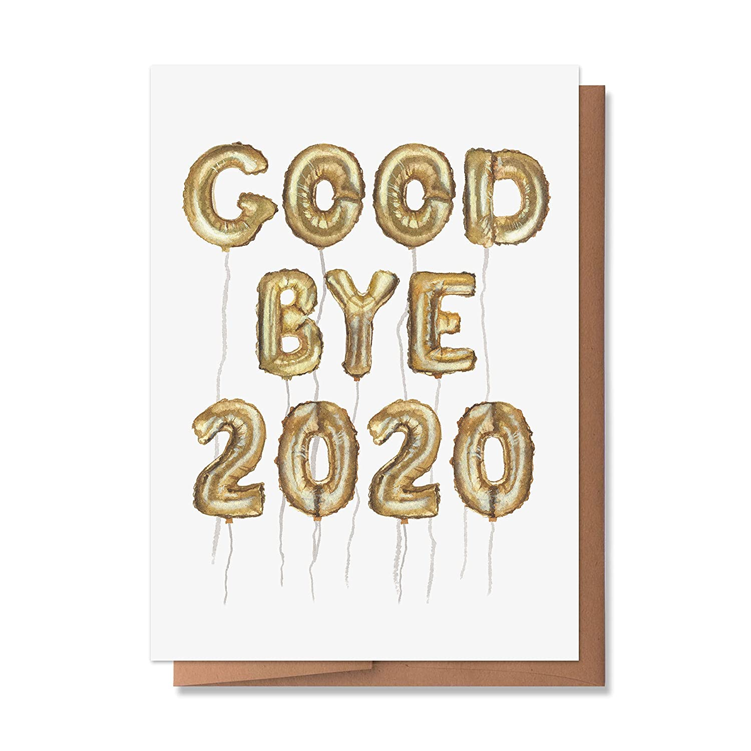 Happy New Years Holiday Card 2021 1 Single Card, Blank inside Wunderkid Funny Ctrl Alt Delete 2020