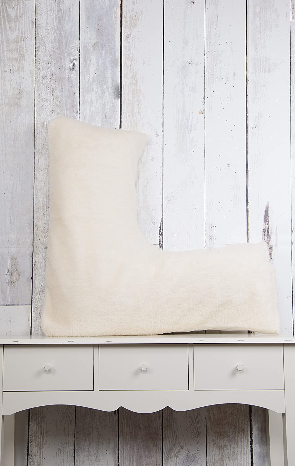 Lancashire Textiles V Shaped Duck Feather Orthopaedic Nursing Back Support Reading Pillow with Free White Cover