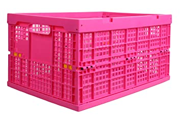 Attractive GILBINu0027S Collapsible Crate Fold Flat Plastic Storage Bin Great For  Organizing Both Indoor And Outdoor Items