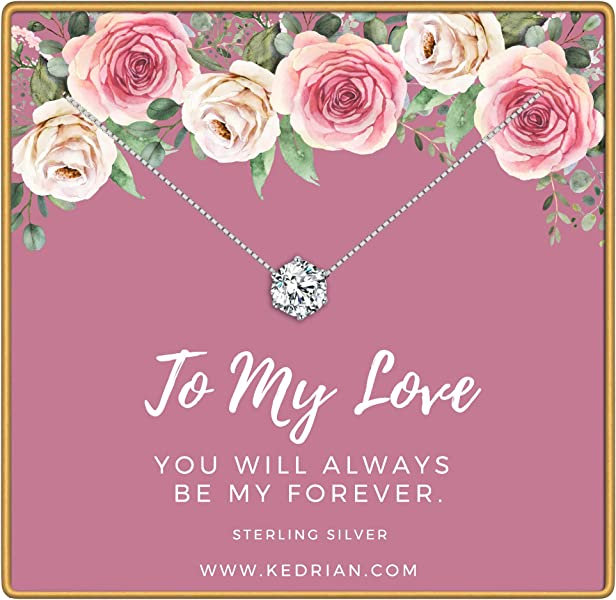 KEDRIAN To My Love Necklace 925 Sterling Silver Girlfriend Gifts For Women Wife