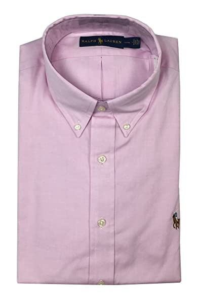 Ralph Lauren Polo Mens Classic Fit Button Down Shirt Pink Multi-Color Pony  (16