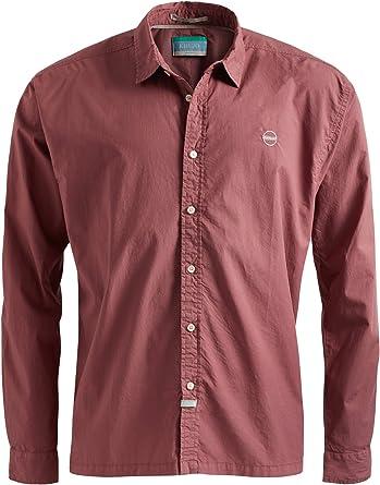 khujo - Camisa casual - Básico - Manga Larga - para hombre rosa M: Amazon.es: Ropa y accesorios
