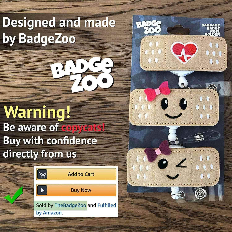 Confezione Da 3 RN Badge Porta-Badge per Bobine Regali Perfetti per Infermiere per Donne Facibom Portabobina per Badge per Infermiere