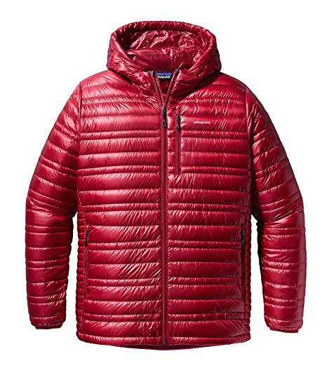 Patagonia Ultralight Down Hoody – Chaqueta Men, Unisex Adulto, Color Rojo clásico, tamaño