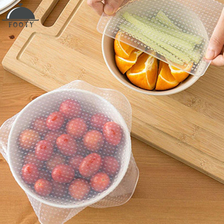 Riutilizzabile Eco silicone food Wraps, Seal Bowl Covers, eco-friendly food stretch coperchi, utensili da cucina ambientale (confezione da 4–1x Small, 2x m, 1x Large) OfferChase