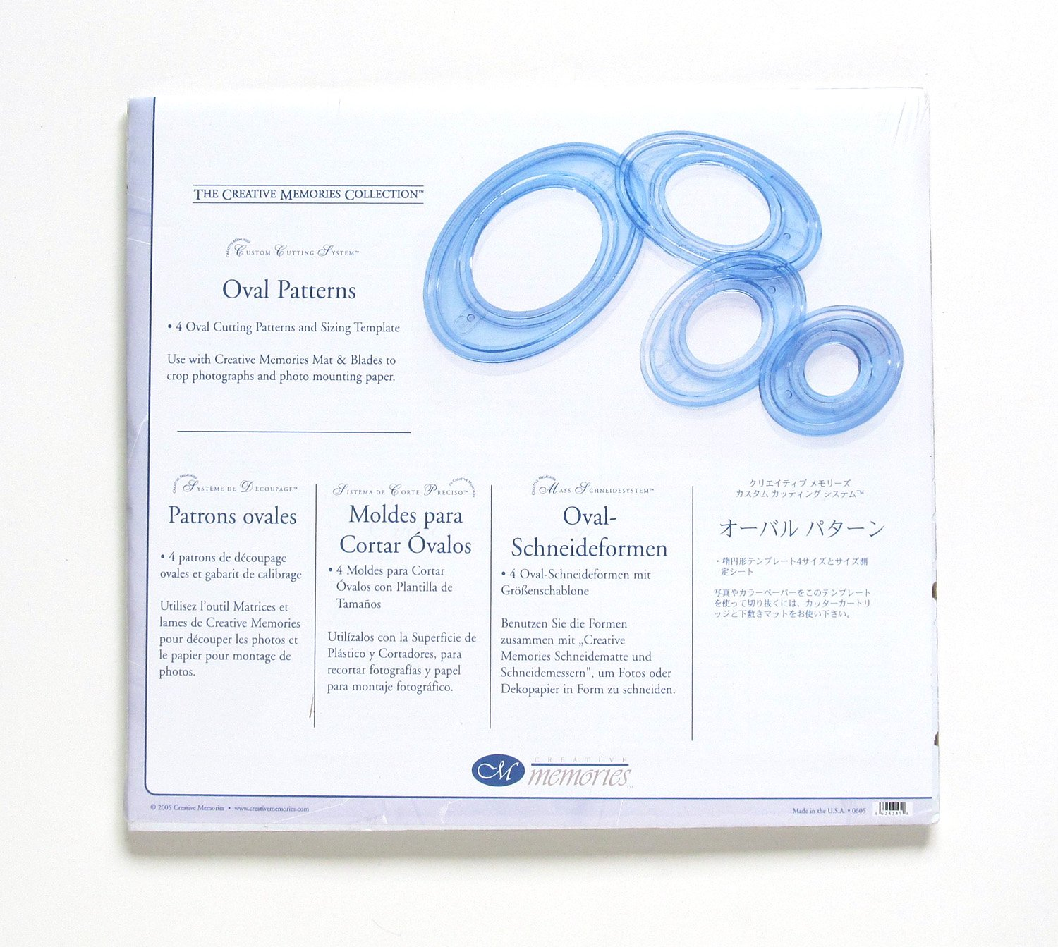 Amazon.com: Creative Memories Custom Cutting System - 4 Oval Cutting Patterns and Sizing Template: Everything Else