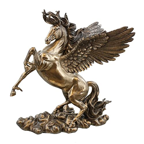 11 Inch Rearing Pegasus Statue Fantasy Magic Collectible Greek Flying Horse