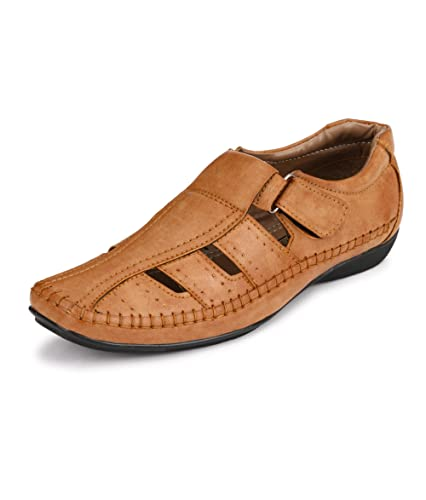 e9103c548da8 Peponi Men s Faux Leather Casual Sandals  Buy Online at Low Prices ...