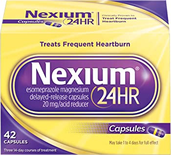 42-Count Nexium 24HR All Night Heartburn Relief Medicine 20mg