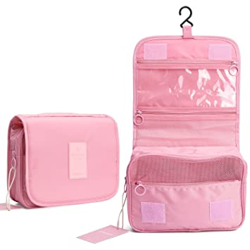 4c8a1c4a4f1 Hanging Toiletry Bag for Women, Portable Travel Wash Bag Waterproof Compact Makeup  Organizer, Foldable