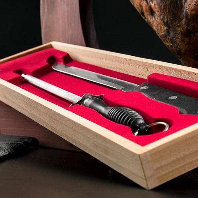 Genérico - Cuchillo jamonero y afilador