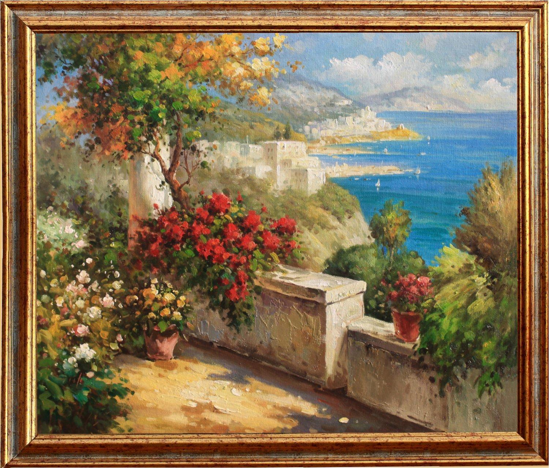 Mediterrane Gemälde original mediterranes ölgemälde handgemalt mediterrane landschaft