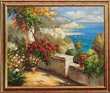 Original Mediterranes Ölgemälde Handgemalt   Mediterrane Landschaft    Malerei In Öl Mediterrane Bilder (direkt Vom