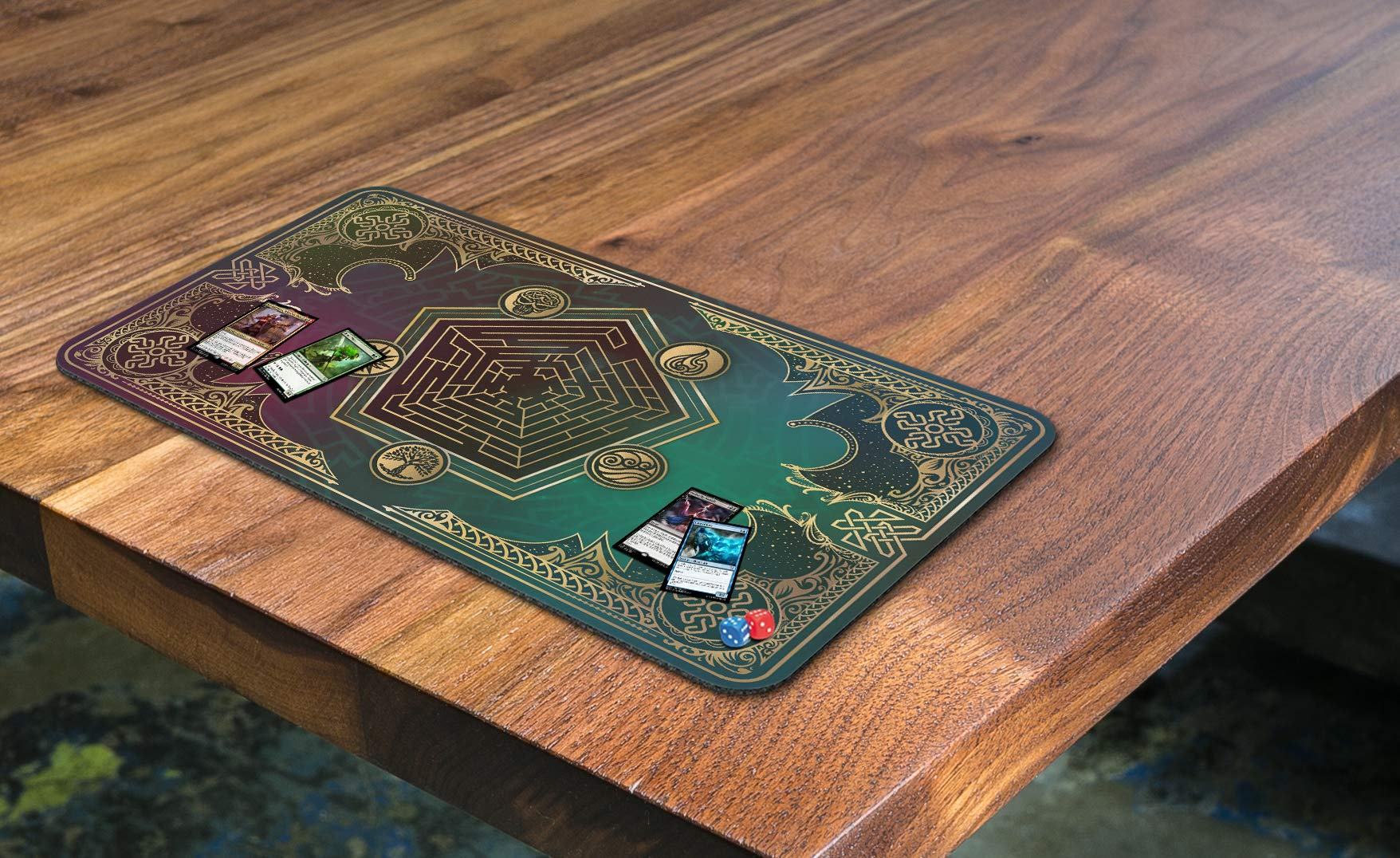 Paramint Mana Blast | MTG Playmat | Perfect for Magic The Gathering, Pokemon, YuGiOh, Anime | TCG Card Game Table Mat | Durable, Thick, Cloth Fabric Top with Rubber Bottom by Daniel Ziegler by Paramint (Image #4)