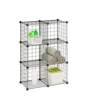 Honey Can Do SHF 02113 Modular Mesh Storage Cube, 6 Pack