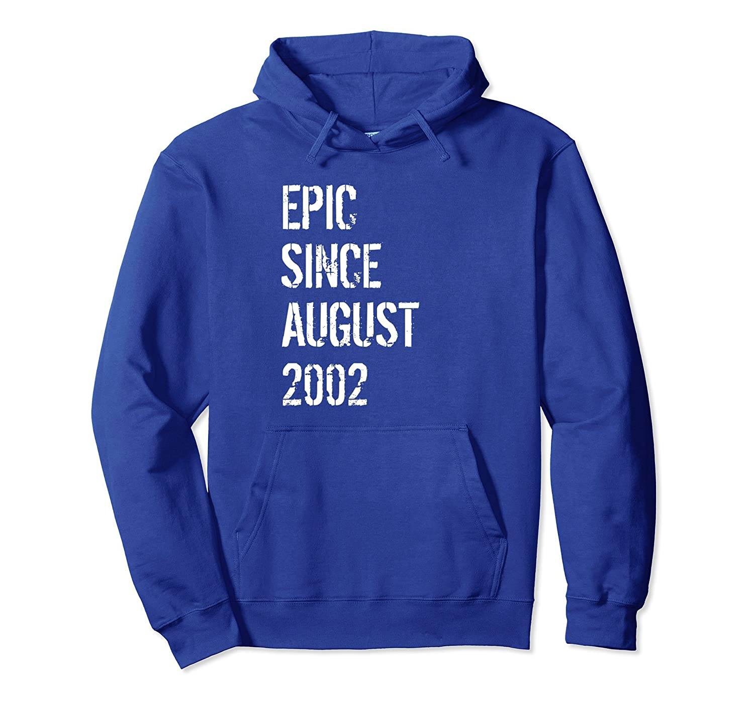 da53b0a89 16th Birthday Gift Hoodie Born In August 2002-mt