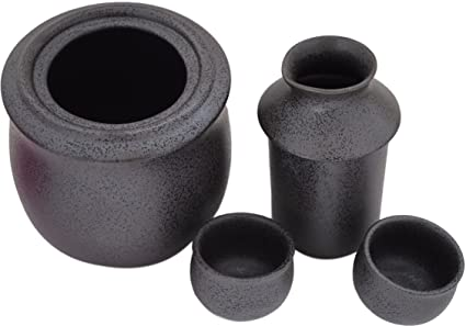Sake japonés calentador y enfriador. -2 Tipo usage- japonesa mino Ware 9,