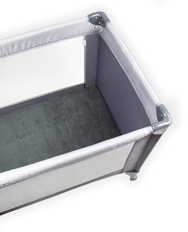 60 x 120 cm Anthrazit Spannbetttuch f/ür Luftbett 100/% Frotte hochwertige qualit/ät Reisebett Campingbett Briljant Baby
