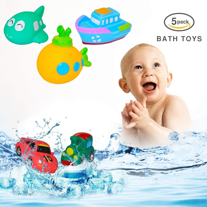 Amazon.com: Markkeer Baby Bath Toy Set,Squirts Bath Toys Pool ...