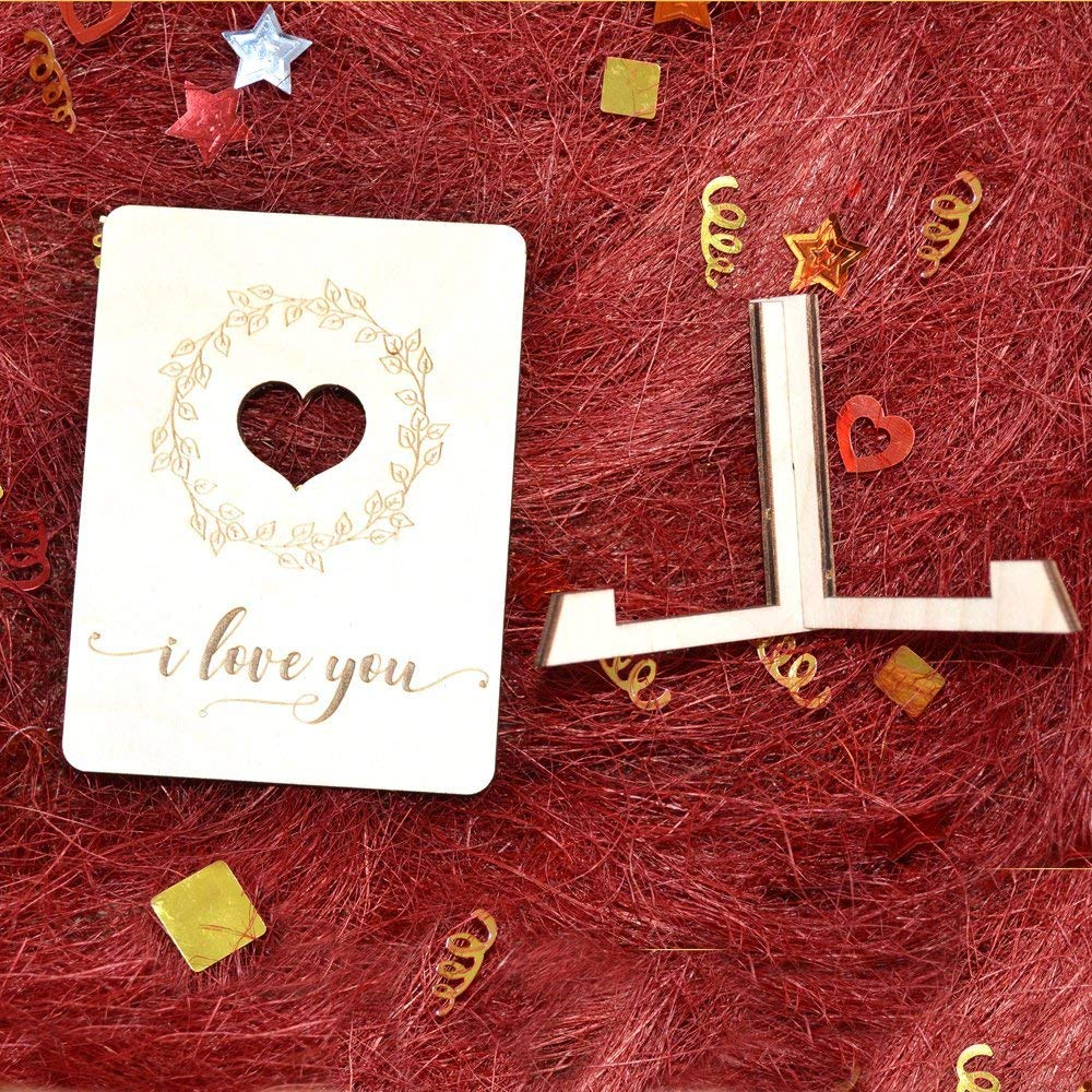 Valentines Day Decor Valentine Sign Wood Love Card Wood Ornament Wood Valentines Gift Wooden Heart Valentines Day Card Small Gift