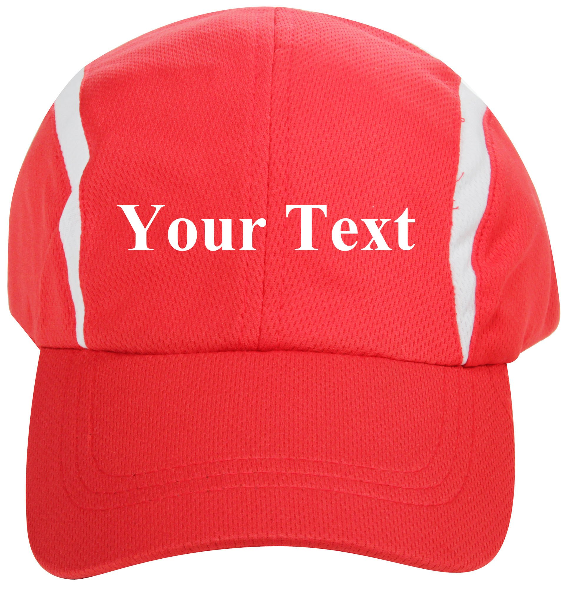 Personalized Breathable Quick Dry Adjustable Sports Baseball Cap White
