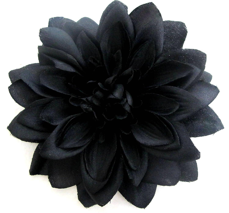 Amazon Large Black Dahlia Hair Flower Clip Beauty