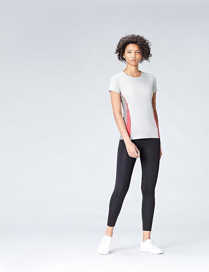 Activewear T-Shirt de Sport à Bande Contrastante Femme  Amazon.fr  Vêtements  et accessoires c598104ee71