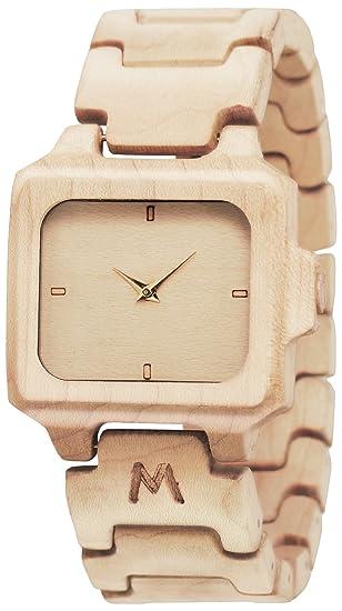 MATOA Flores - Reloj de madera hecho a mano | Hecho a mano con madera tropical
